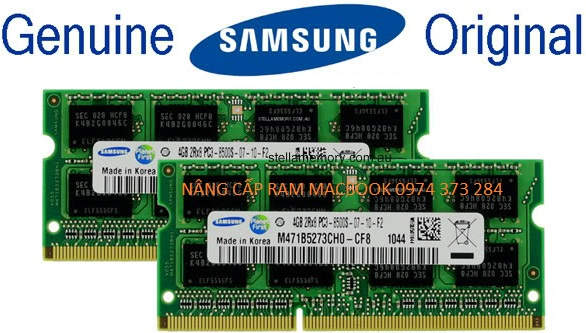 NÂNG CẤP RAM 8GB MACBOOK