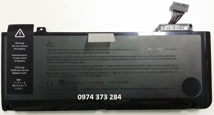 Original Battery Macbook Pro 13 A1322 A1278 2009, 2010, 2011&2012
