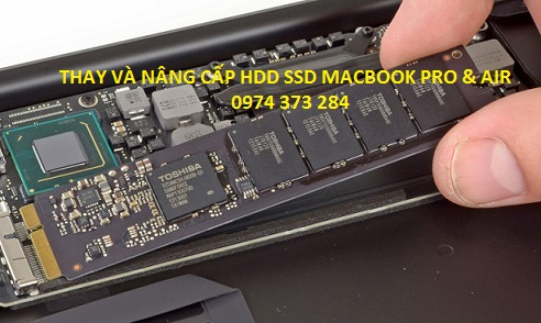NÂNG CẤP SSD MACBOOK AIR 256 GB